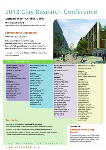 Clay Research Conference 2013